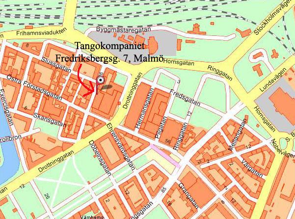 Skräddarsydd karta: Tangokompaniet Malmö